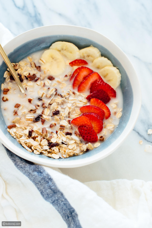 إفطار نباتي صحي لتغذية متكاملة