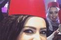 ميرهان حسين بإطلالة جريئة وحذاء غير مناسب بزفاف إيمي سمير غانم