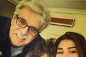 عباس النوري مع ابنته رنيم وحفيده