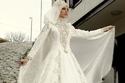 فستان زفاف 2018 للمحجبات ملكي