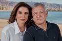 الملكة رانيا مع الملك عبد الله الثاني