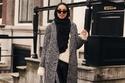 أفكار لتنسيق المعاطف الطويلة مع الحجاب في شتاء 2018