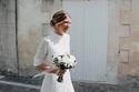 فساتين زفاف شيفون ميدي