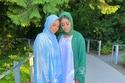 موديلات عبايات ملونة بدرجات السماوي والأخضر