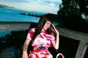فستان قصير مطبوع من مجموعة Sara Battaglia ربيع 2022