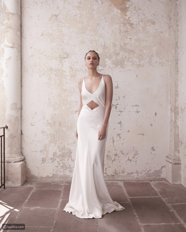 القص الصارم لفساتين برييا جيمس