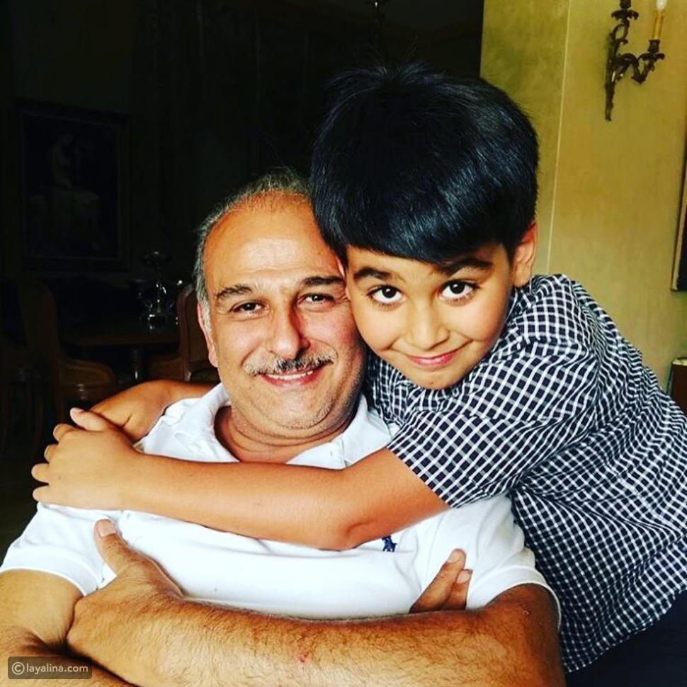 صور جمال سليمان مع ابنه الوحيد محمد بعد أن كبر.. أصبح نسخة عن والده!