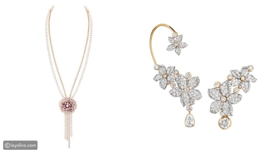 مجوهرات نزينة بتصميم الزهور