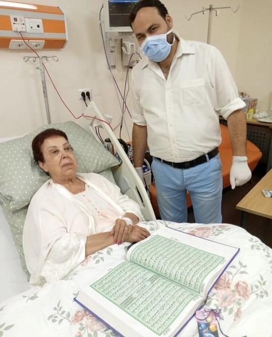رجاء الجداوي في مستشفى العزل