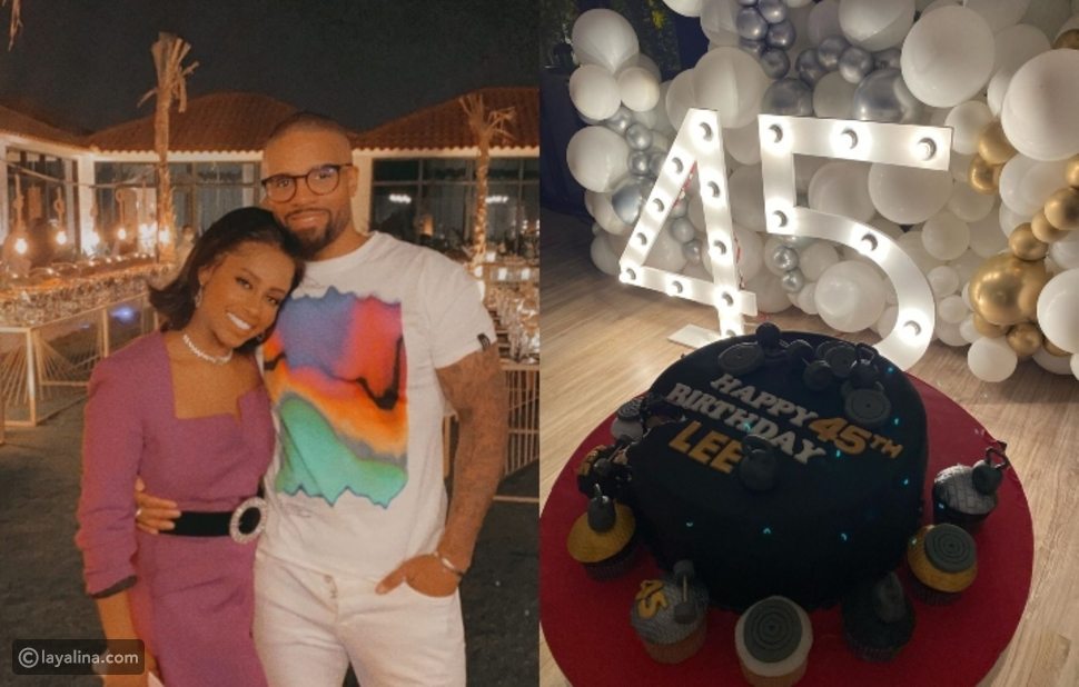 داليا مبارك تفاجئ زوجها في مقر عمله لكي تحتفل بعيد ميلاده
