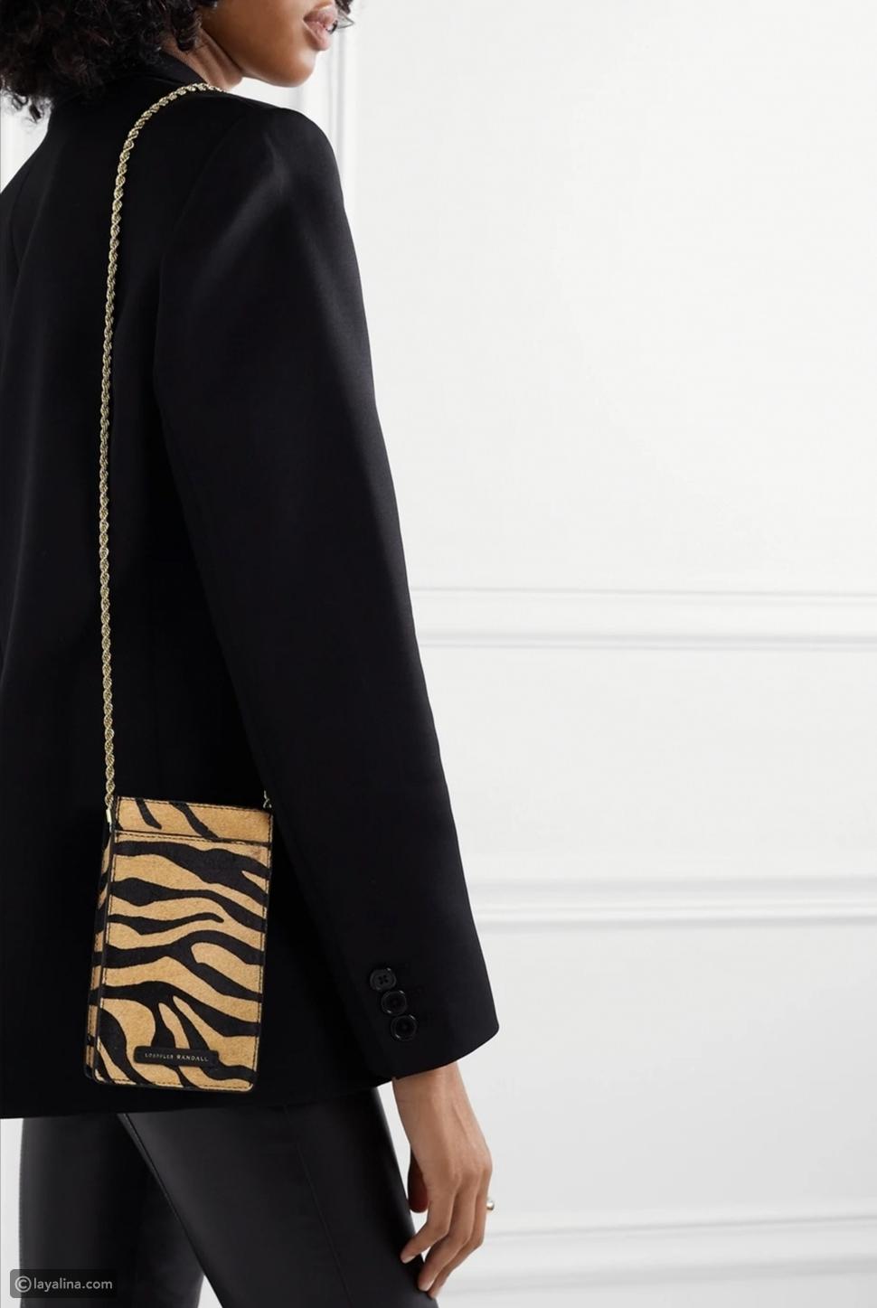حقيبة بنقش جلد الفهد
