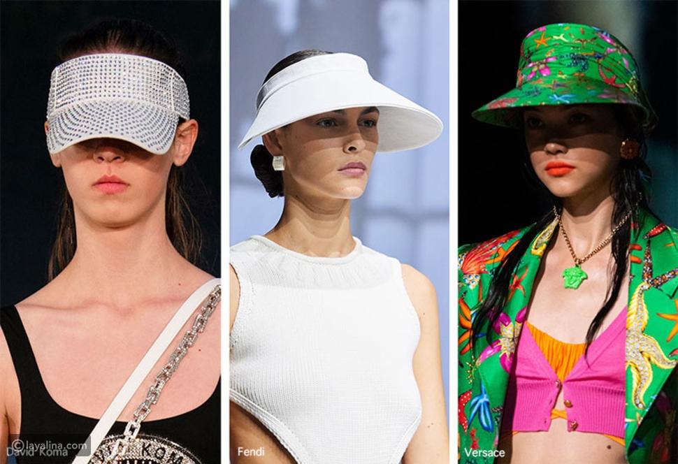 """أقنعة """"Visors"""" في مجموعةFendi و Versace و David Koma"""