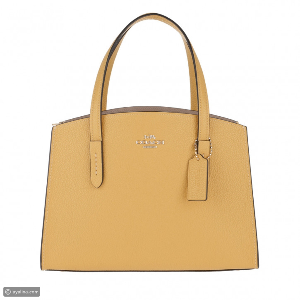 حقيبة كوتش Charlie Grained Leather Tote Bag