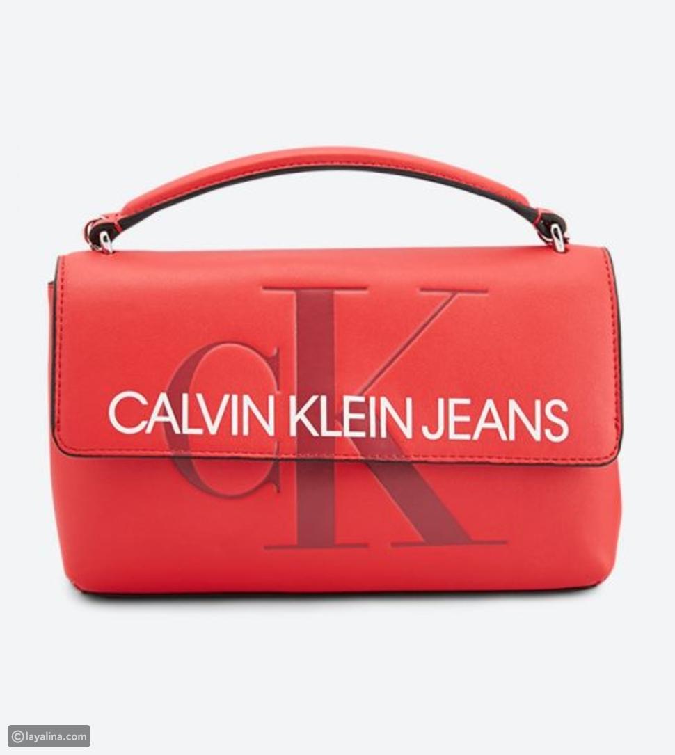حقيبة الحمراء العصرية من كالفين كلاين