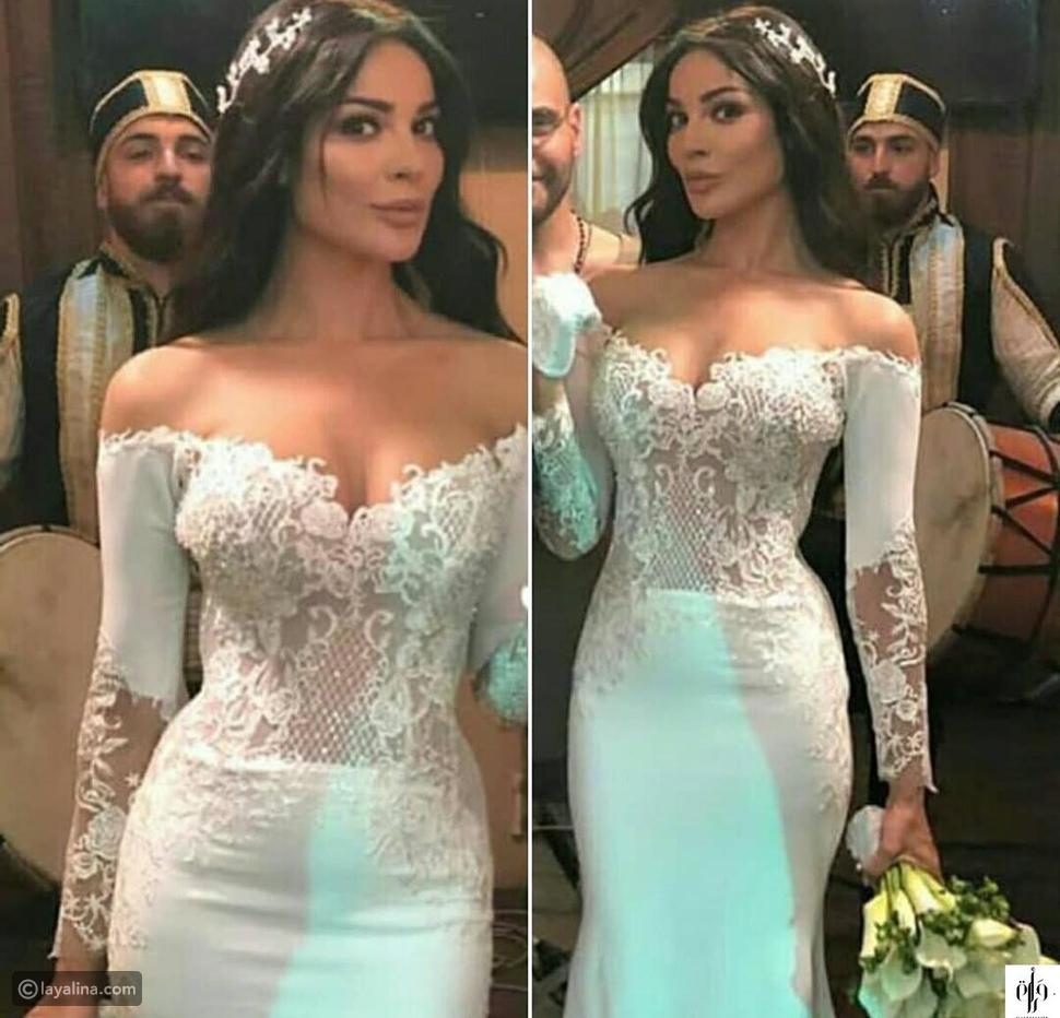 فستان زفاف نادين نجيم في مسلسل طريق
