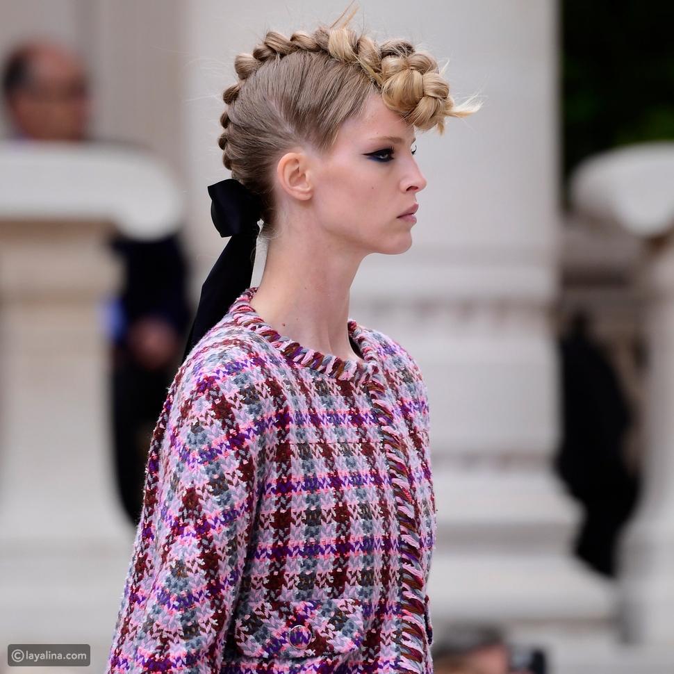 تسريحات الشعر والمكياج في مجموعة Chanel