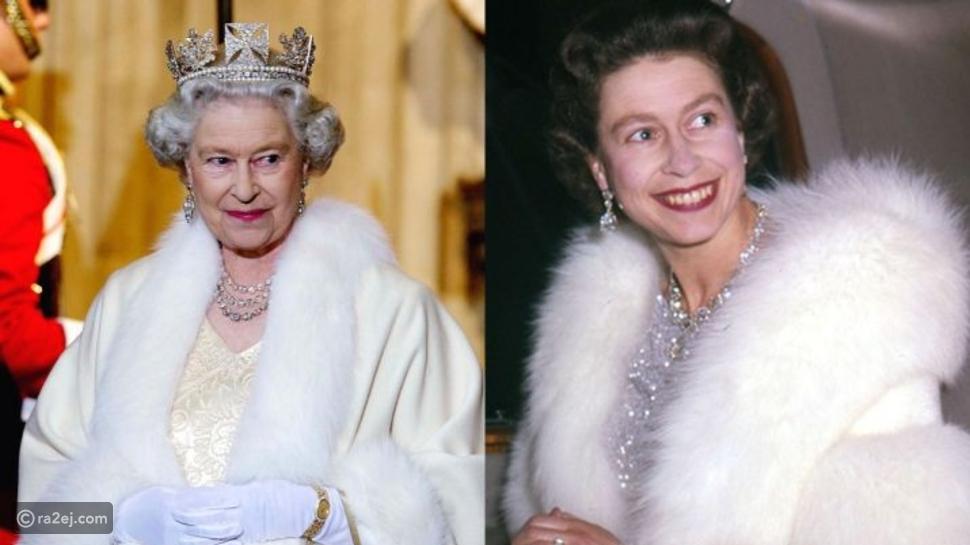 الملكة إليزابيث ترتدي الفراء