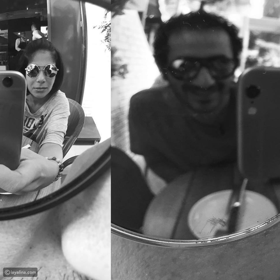 صورة غريبة تجمع منى زكي وأحمد حلمي