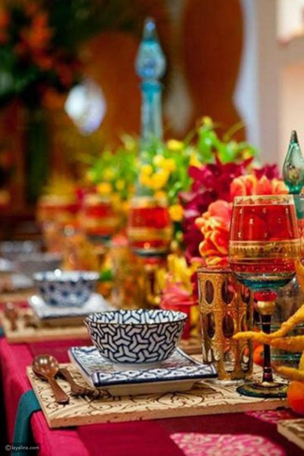 أفكار لديكور مائدة اليوم الأول من رمضان