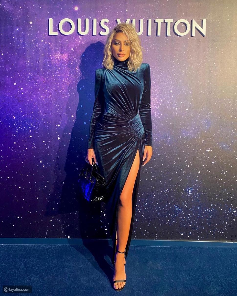 مايا دياب بإطلالاة مكررة في عشاء Louis Vuitton في دبي