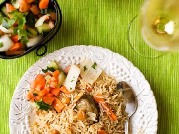 طريقة الرز البخاري الأفغاني