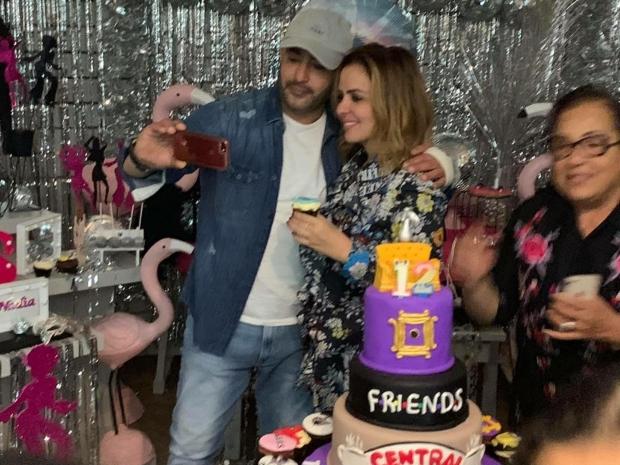 أحمد السقا وزوجته من عيد ميلاد ابنتهما نادية