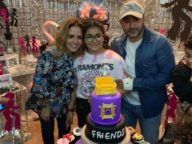 أحمد السقا يحتفل بعيد ميلاد ابنته نادية