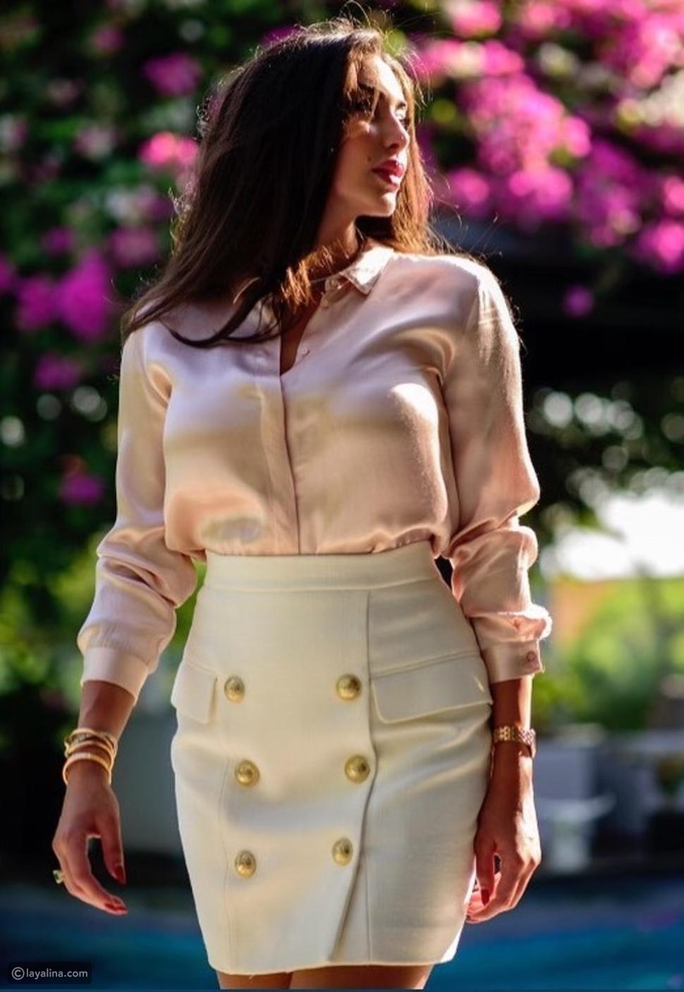 ياسمين صبري تتألق بإطلالة من ألوان الباستيل