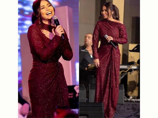 فستان شيرين عبد الوهاب