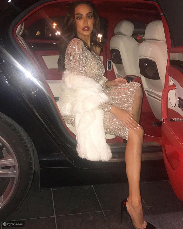 فاطمة المؤمن ترتدي فستان من يوسف الجسمي