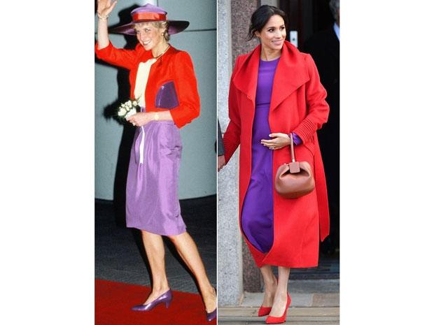 ميغان ماركل ترتدي نفس ألوان الأميرة ديانا