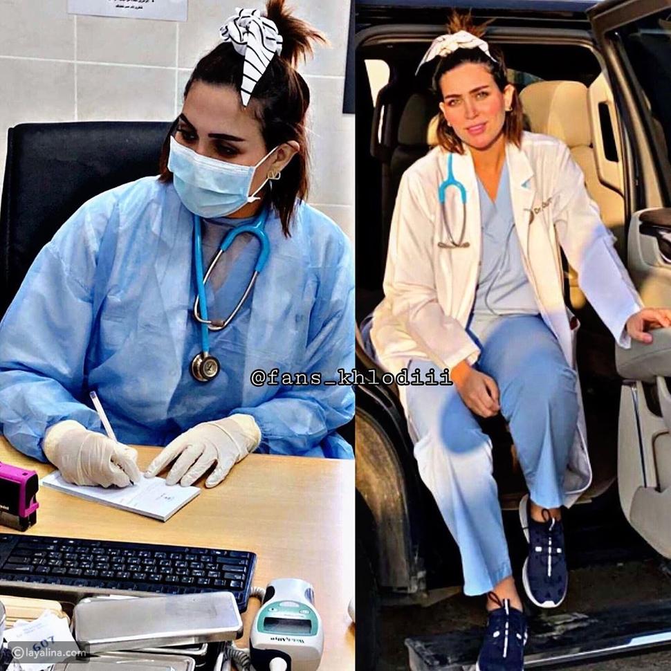 انتقاد الدكتورة خلود برغم تطوعها لمكافحة كورونا