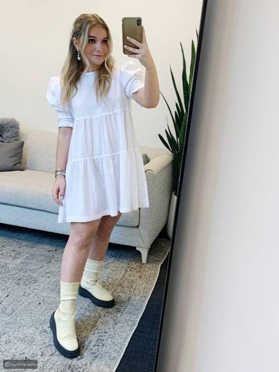 أزياء باللون الأبيض