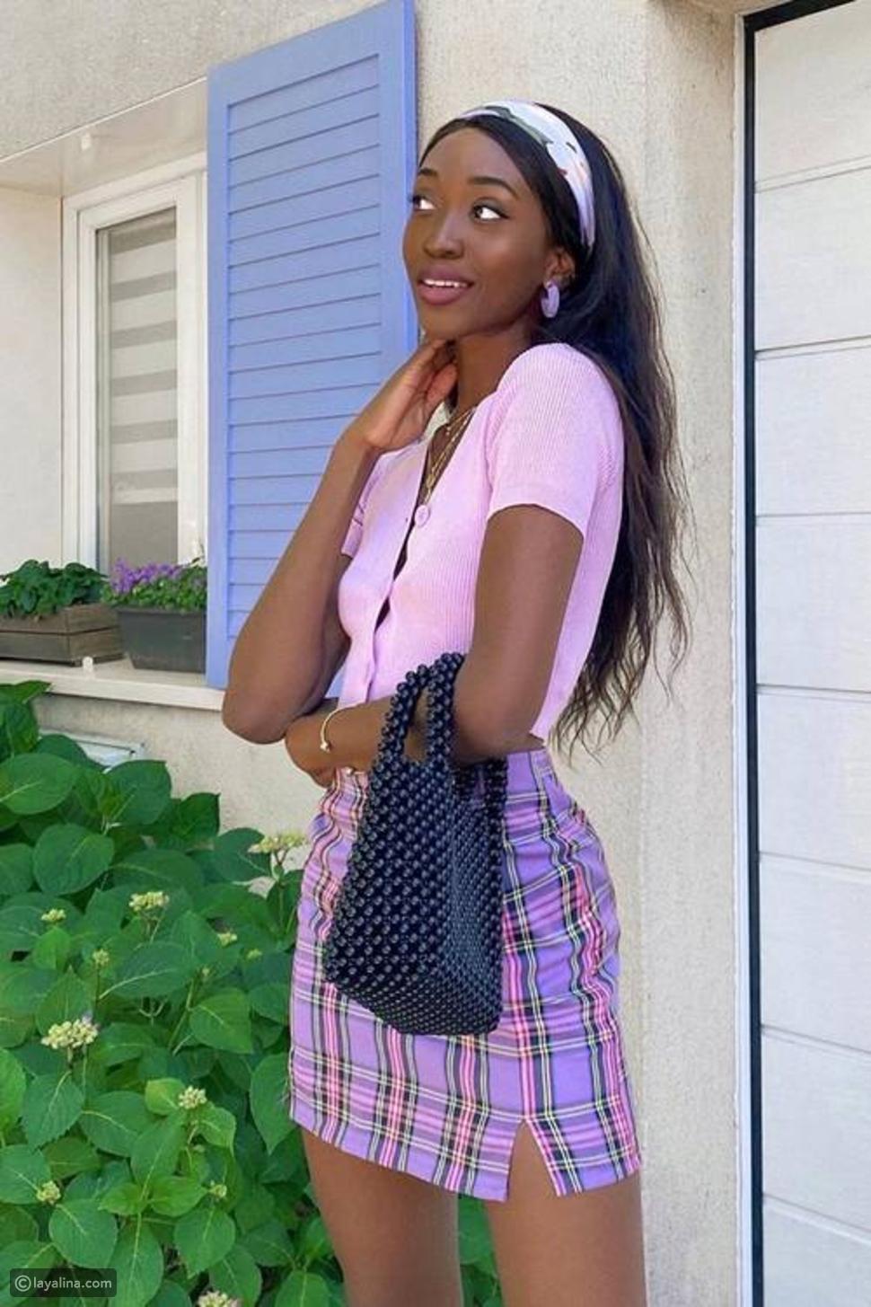 تنورة بليسيه بألوان الباستيل