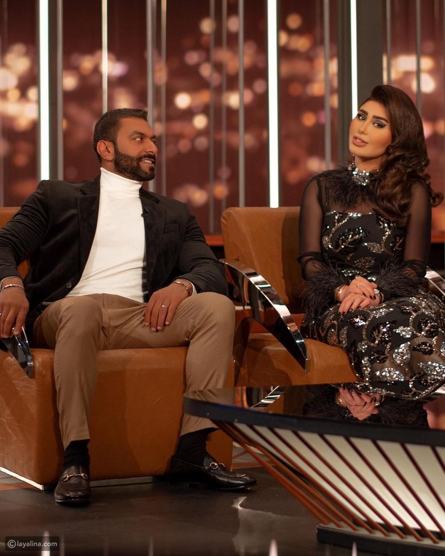 مصطفى الأغا يحرج هنادي الكندري وزوجها بأسئلة جريئة على الهواء