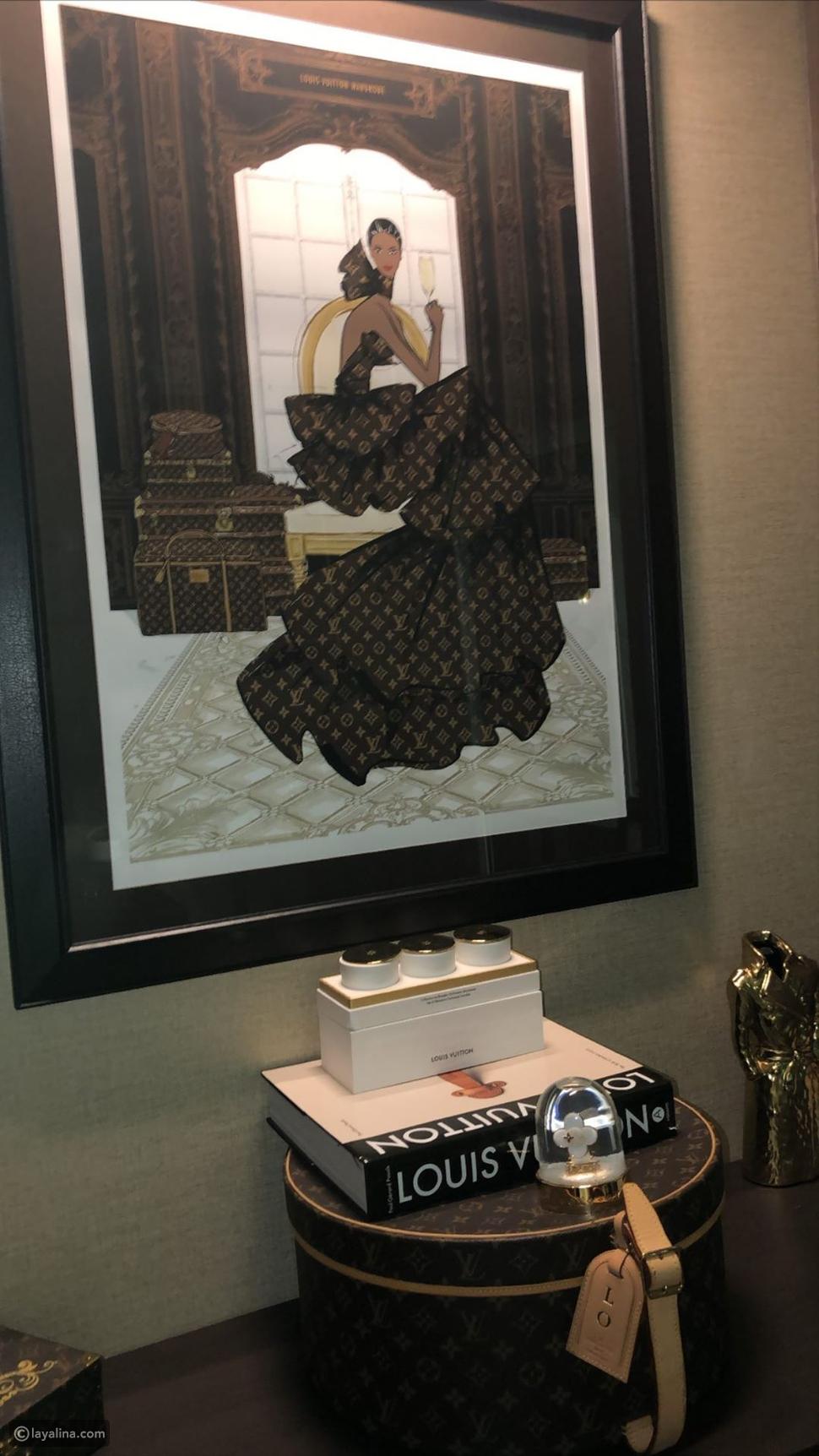غرفة من LV في منزل لجين عمران