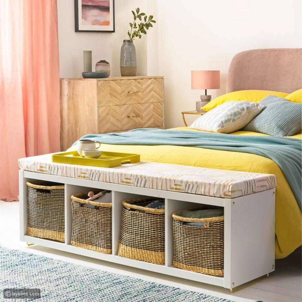 أفكار للتخزين في غرف النوم لتبدو أكبر حجماً
