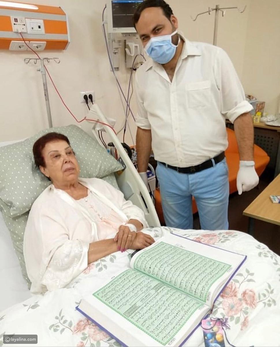 أول صورة لرجاء الجداوي من مستشفى العزل