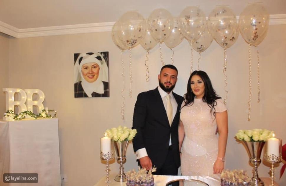 هالة فؤاد تظهر في خطوبة ابنها رامي على فتاة تركية