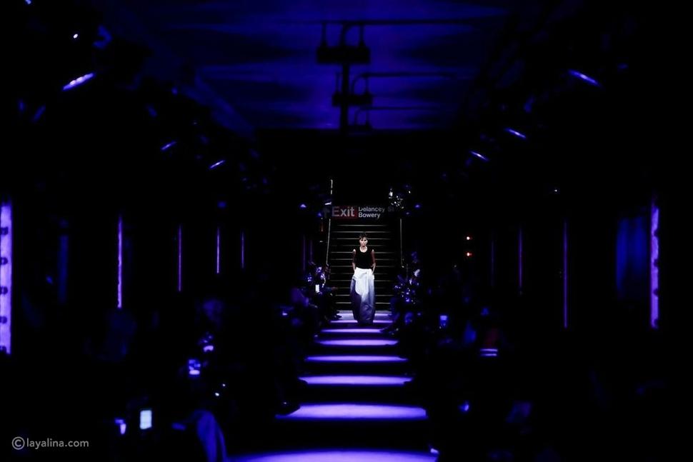 عرض أزياءTom Ford في مترو أنفاق Bowery في مدينة نيويورك