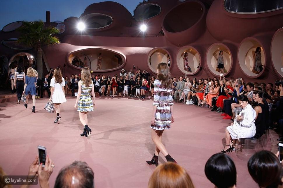 عرض أزياءمجموعة كروز 2016 من Dior في منتجعPalais Bulles