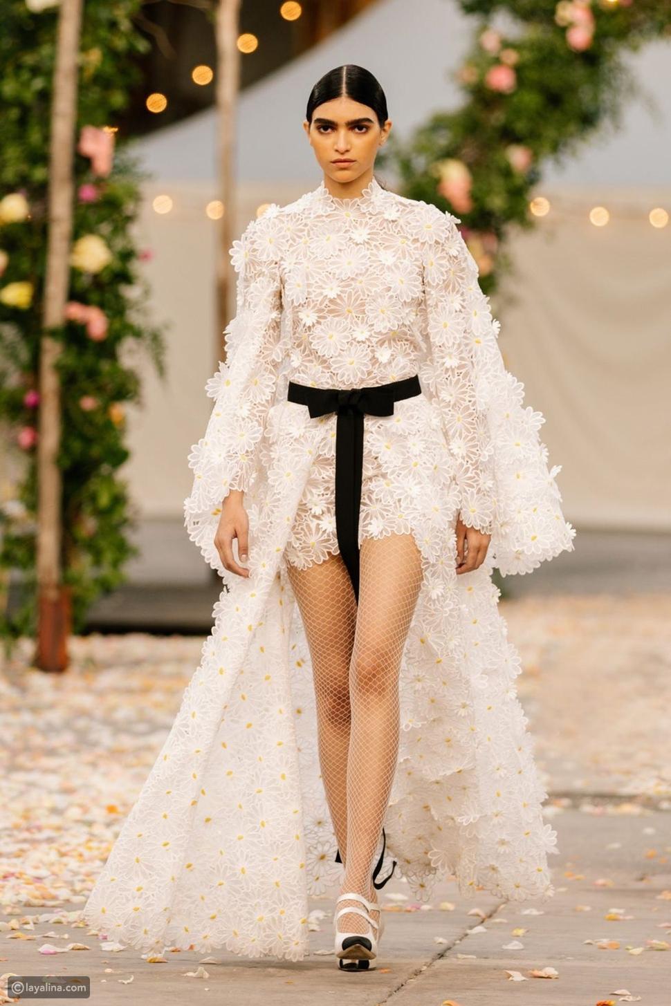 فستان ابيض من Chanel