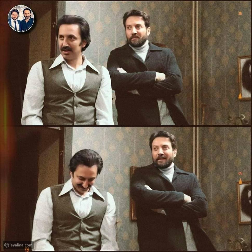 أحمد الأحمد مع شقيقه في مسلسل خريف العشاق