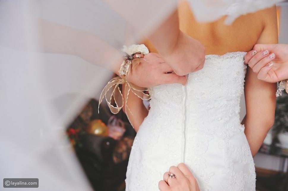 ذهاب العروس لموعد الصالون