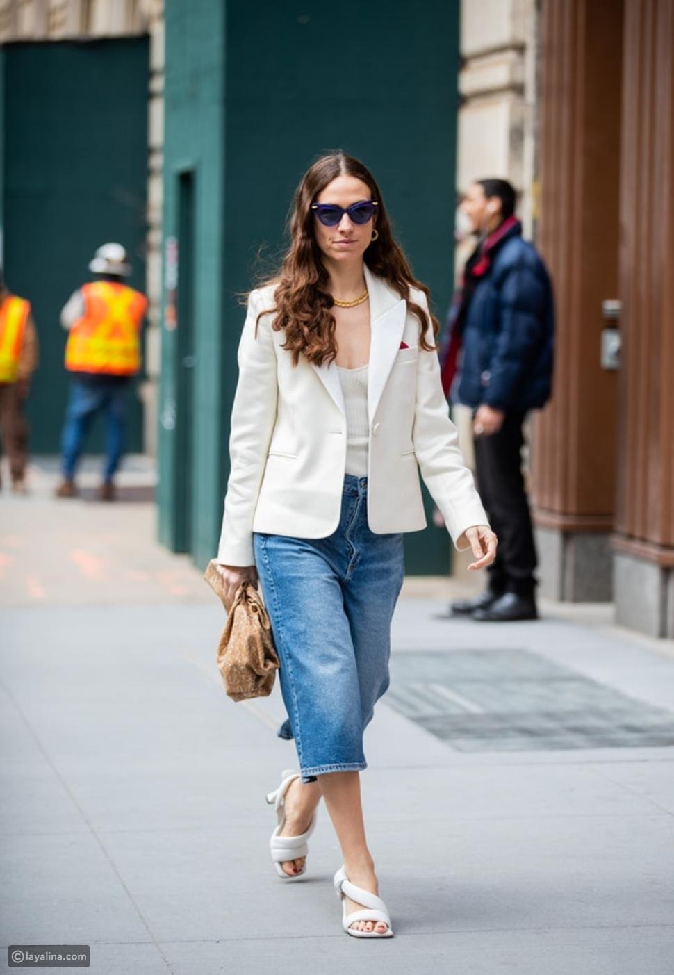 جينز قصير بستايل Culotte