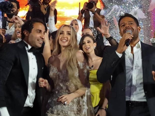 محمد حماقي من حفل زفاف أحمد فهمي وهنا الزاهد