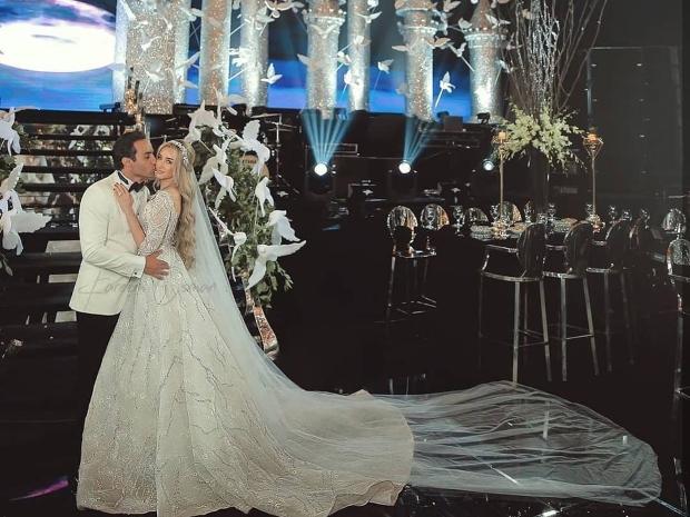 أحمد فهمي وهنا الزاهد من حفل زفافهما