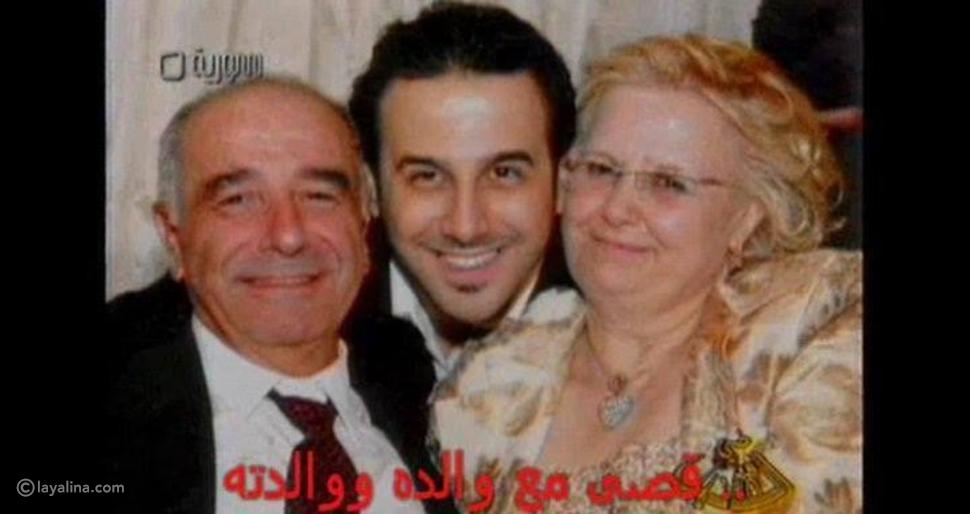 الفنان قصي خولي ينشر صورة برفقة والديه