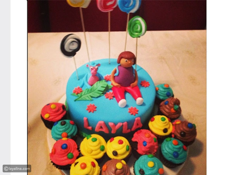 صورة هند صبري تحتفل بعيد ميلاد ابنتها ليلى