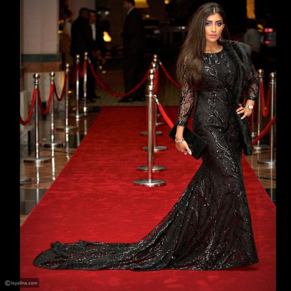 صور بثينة الرئيسي بفستانين ساحرين في مهرجان دبي السينمائي